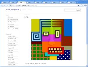 Clotilda, 20090102, HTML, 450 x 450 pixels