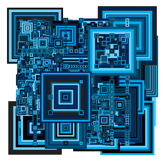 Blue Recursive #4 by Don Relyea
