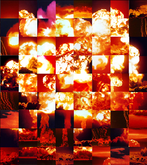digital bomb (monumental polyptych)